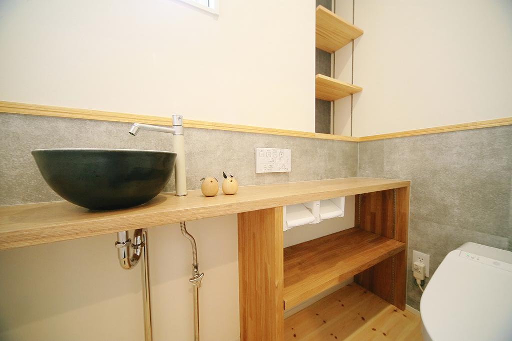 2世帯お手洗い・造作カウンター