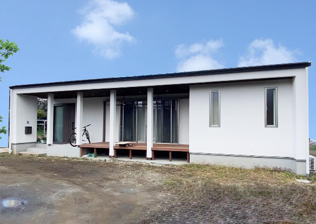 築70年の家を建て替えた平屋の家