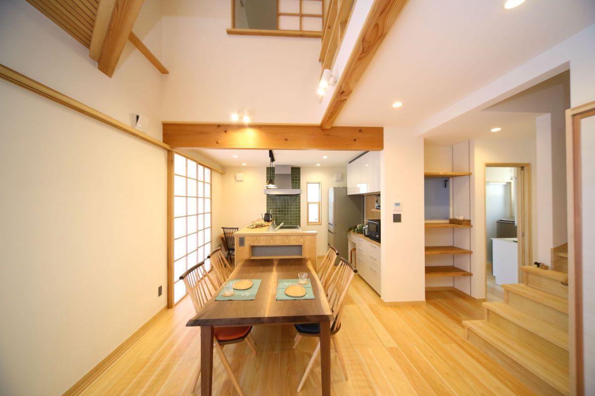上質な和の設えに、小粋なアクセントが映える家 富士市・I様邸
